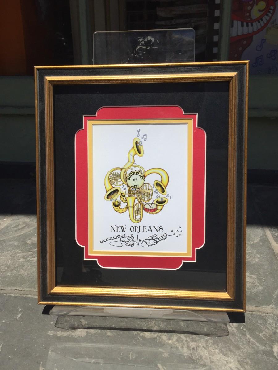 Horn Fleur De Lis Framed The Jamie Hayes Gallery